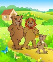 Trois ours partent en promenade dans les bois