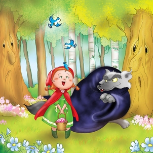 Le Petit Chaperon Rouge et le grand m�chant loup - conte illustr�