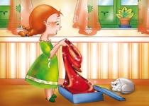 Le Petit Chaperon Rouge ouvre son cadeau...