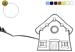 L'atelier du Père Noël<br />(carte virtuelle à colorier) - Carte de voeux virtuelle