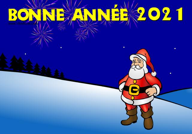 Le Père Noël vous souhaite une Bonne Année 2017 ! - Carte de voeux virtuelle