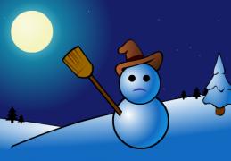 Le bonhomme de neige - Carte de voeux virtuelle