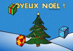 Les cadeaux du Père Noël - Carte de voeux virtuelle