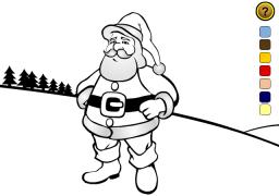 Le coloriage du Père Noël - Carte de voeux virtuelle