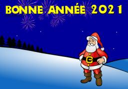 Le Père Noël vous souhaite une Bonne Année 2020 ! - Carte de voeux virtuelle