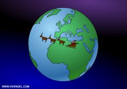 La tournée du Père Noël - Carte de voeux virtuelle
