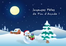 Joyeuses Fêtes de fin d'année ! - Carte de voeux virtuelle