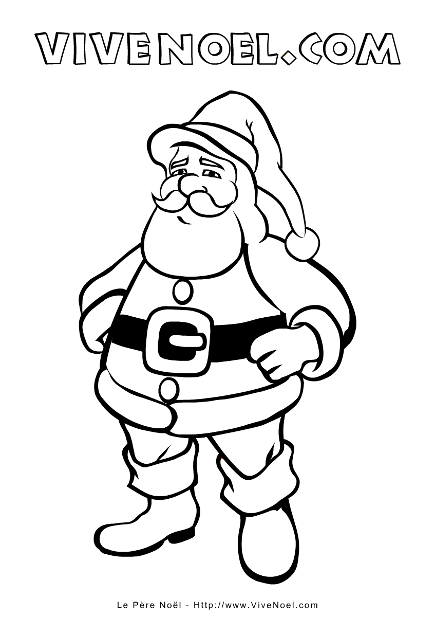 Coloriage De Noël à Imprimer Le Père Noël