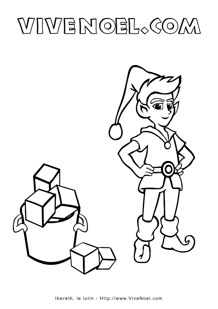 Coloriage De Noël à Imprimer Ibereth Le Lutin