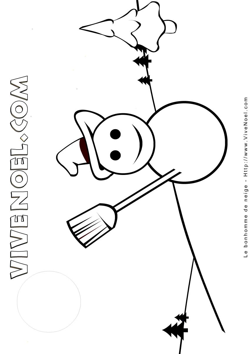 Le bonhomme de neige Coloriage  imprimer