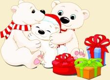 Lulu le petit ours polaire et ses parents
