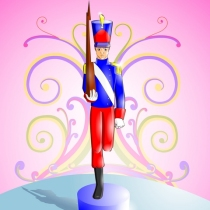 Le petit soldat de plomb avec une seule jambe