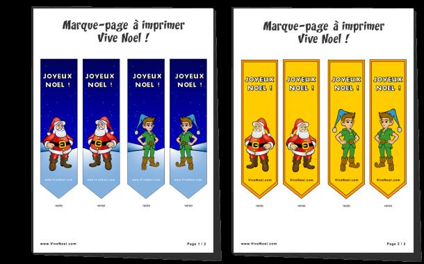 Visuels du marque-page à imprimer et à découper