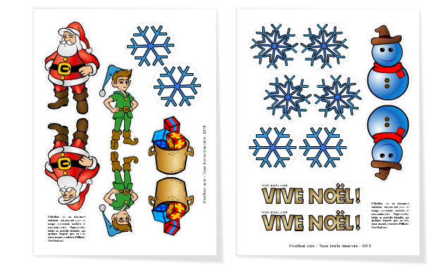 Pages à imprimer du mobile Vive Noel